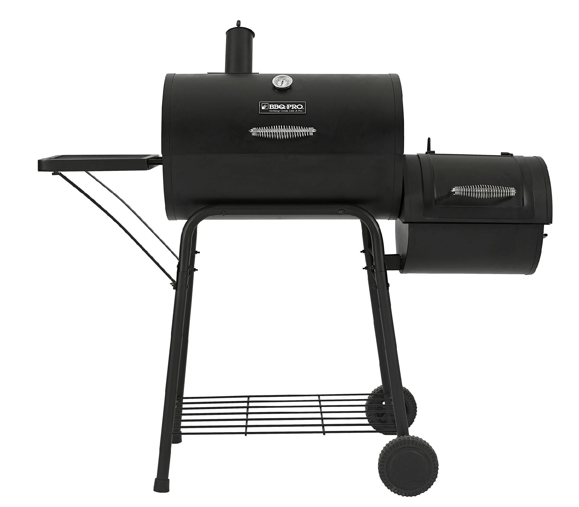 BBQ Pro  Barrel Smoker with Offset Firebox