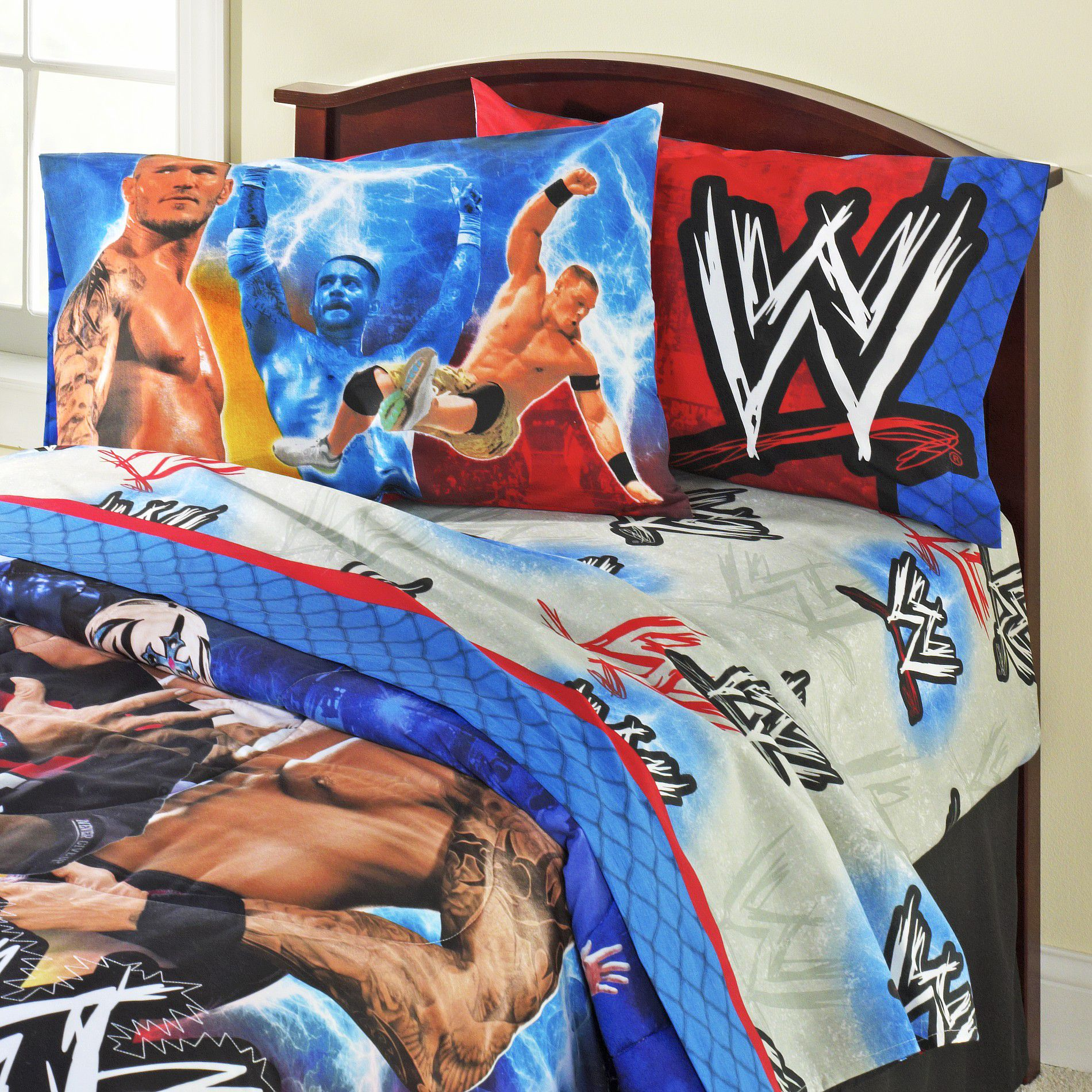 Boy's Reversible Pillowcase - Wrestling Champions