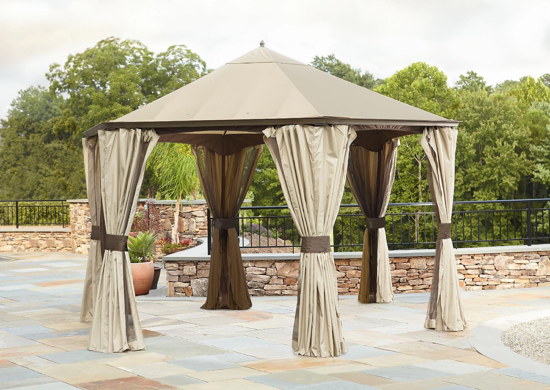 Garden Oasis Replacement Canopy For Hexagonal Gazebo