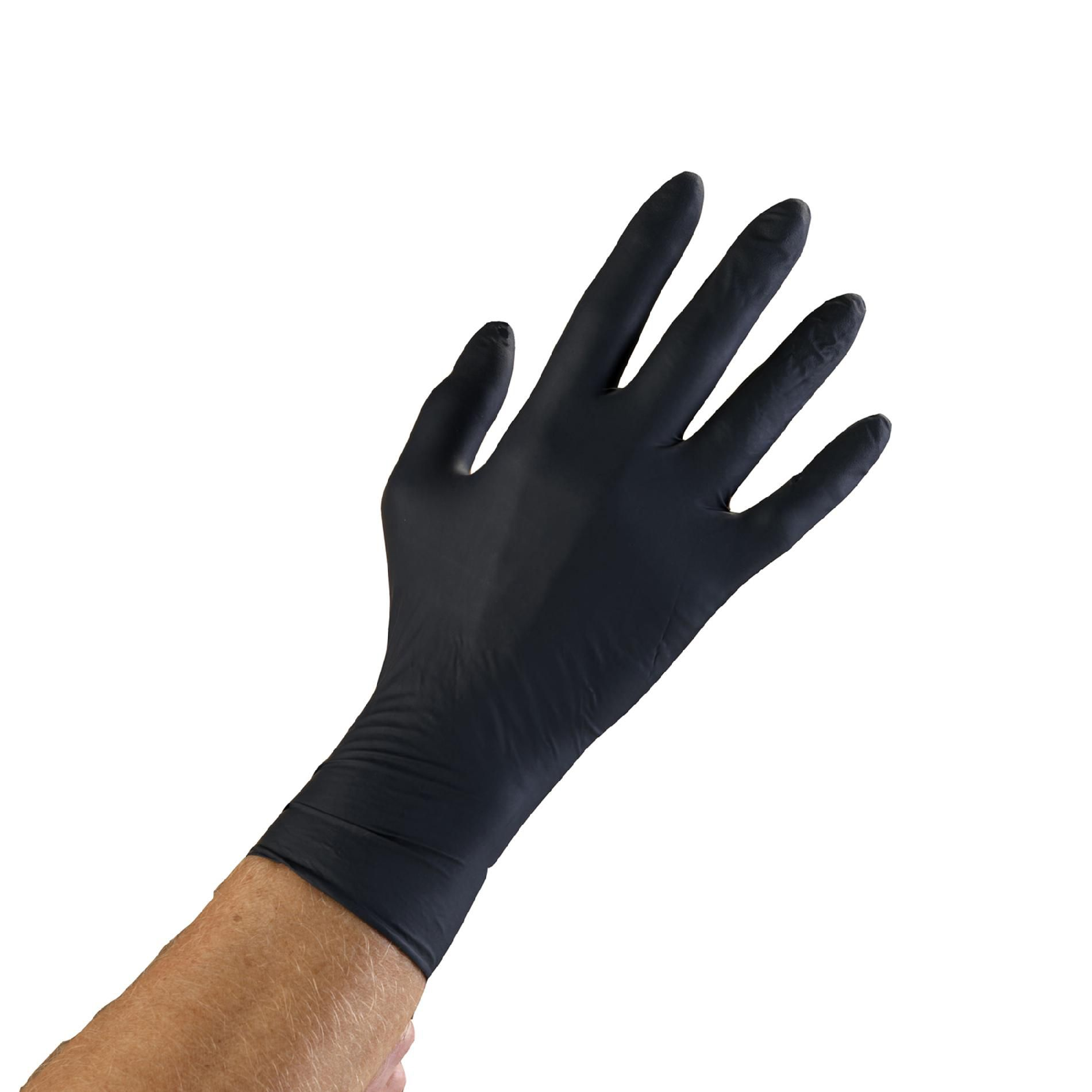 Microflex N643 ONYX Black Nitrile Examination Gloves  Box of 100  Size Large PartNumber: 038V005450520000P