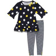 Carter's Newborn & Infant Girl's Polka Dot Top & Striped Leggings Set 2 Piece at Sears.com
