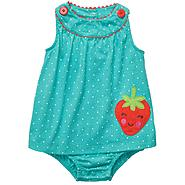 Carter's Newborn & Infant Girl's Sunsuit Strawberry Sleeveless – Turquoise at Sears.com