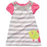 Carter's Newborn & Infant Girl's Jumper Printed – Pink/White/Gray Stripes at Sears.com