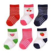 Carter's 12-24 Months Infant Girl's Socks 6-Pack Fruit Striped Multicolor at Sears.com