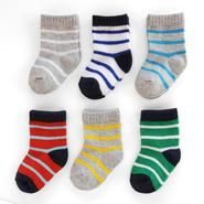 Carter's Infant Boy's Socks 6-Pack Stripes Multicolor at Sears.com