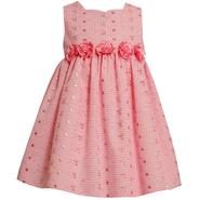 Ashley Ann Infant & Toddler Girl's Dress Sleeveless Rosette Patterned Pink at Sears.com