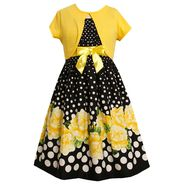 Ashley Ann Girl's Party Dress & Sweater Shrug - Floral & Dots at Sears.com