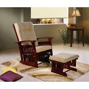 Dream on Me Mission Glider and Ottoman with Espresso Glider/ beige Cushion at Sears.com