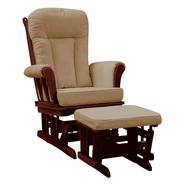Dream On Me Elysium Glider Rocker and matching Ottoman with Espresso Glider with Beige Cushion at Sears.com
