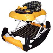 Dream On Me Dynamic 2 in 1 Walker and Rocker In Yellow/ Blue at Kmart.com