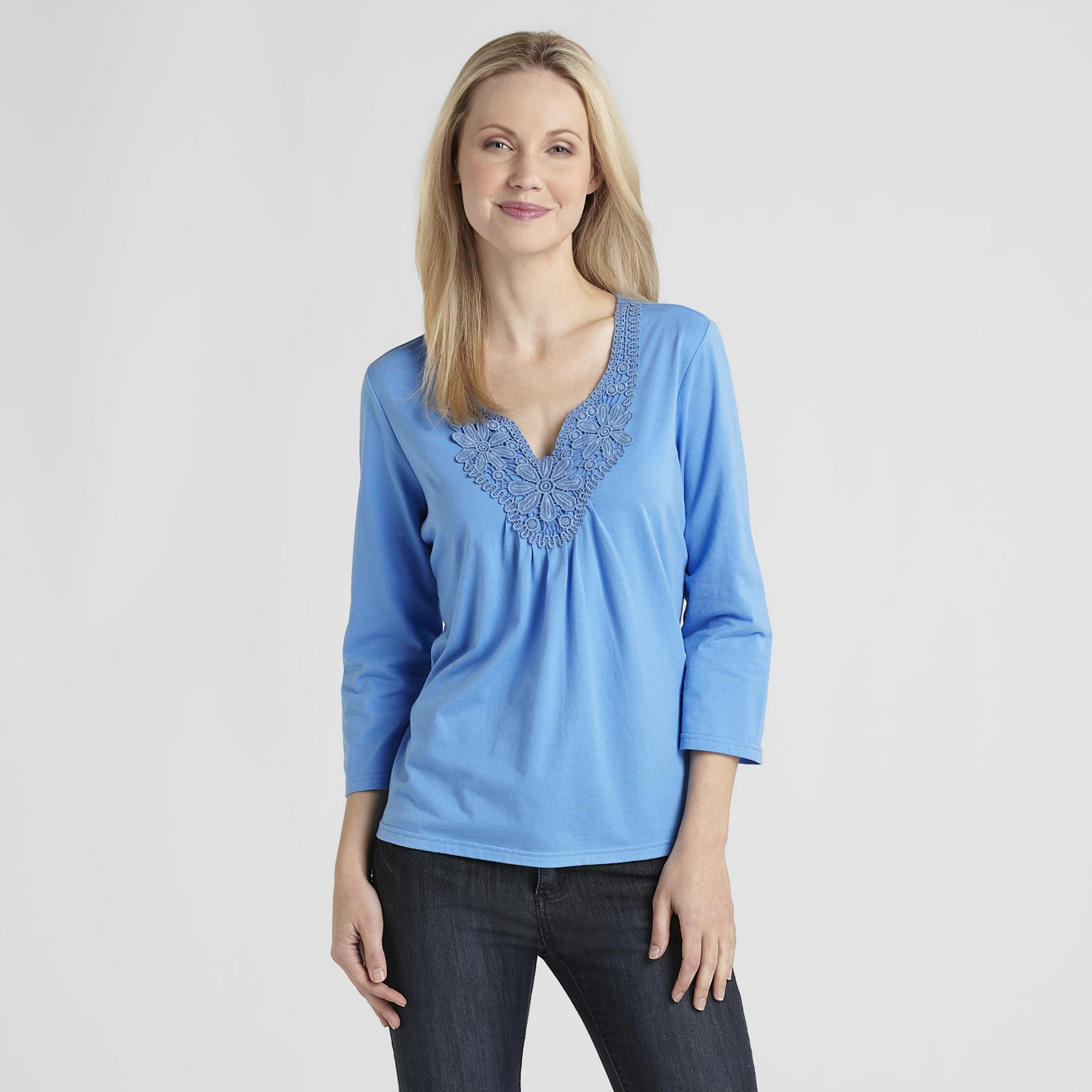Basic Editions Women's Crochet Top at Kmart.com