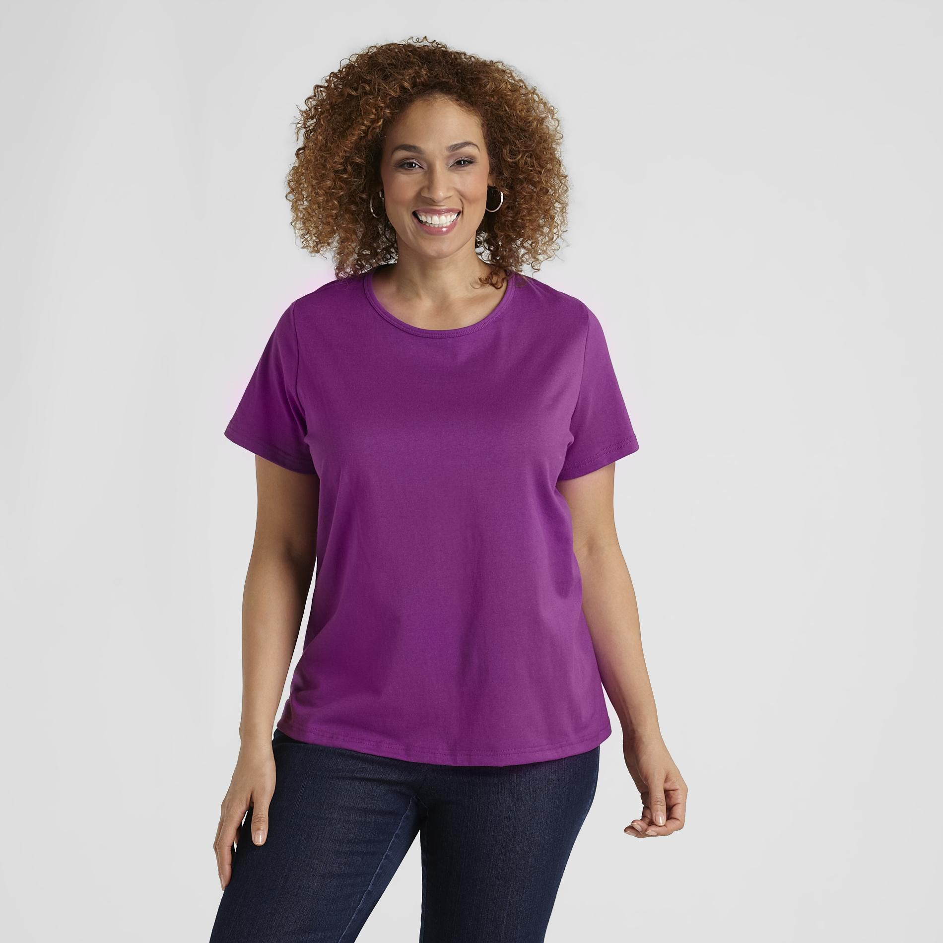 Basic Editions Women's Plus Relaxed-Fit T-Shirt at Kmart.com