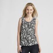 Basic Editions Women's Pintuck Tank Top at Kmart.com