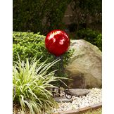 Garden Oasis Metallic Gazing Ball - Red at mygofer.com