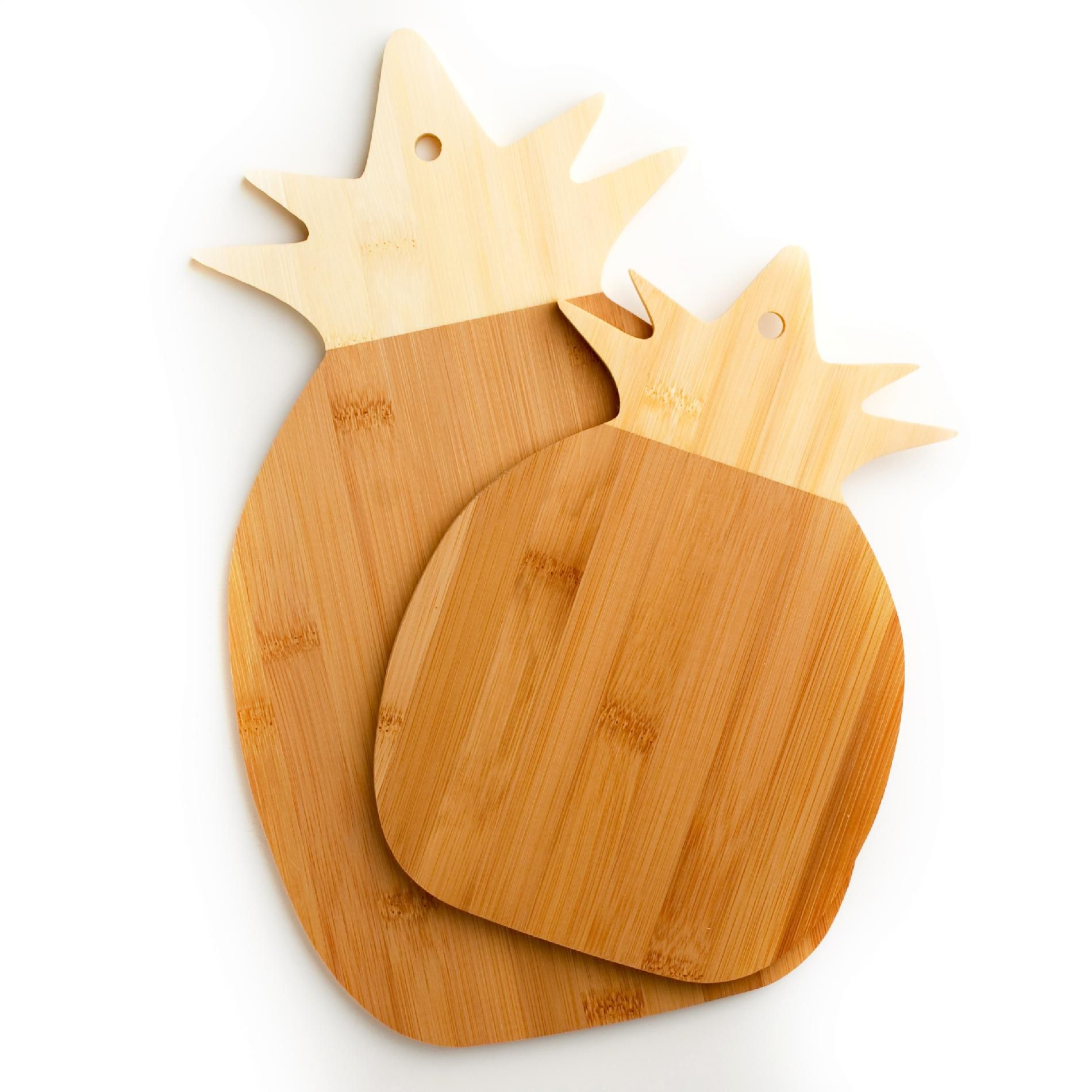 Cook's Corner 2PC Bamboo Pineapple Cutting Board