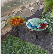Garden Oasis 16in Glass Birdbath - Butterfly at Kmart.com
