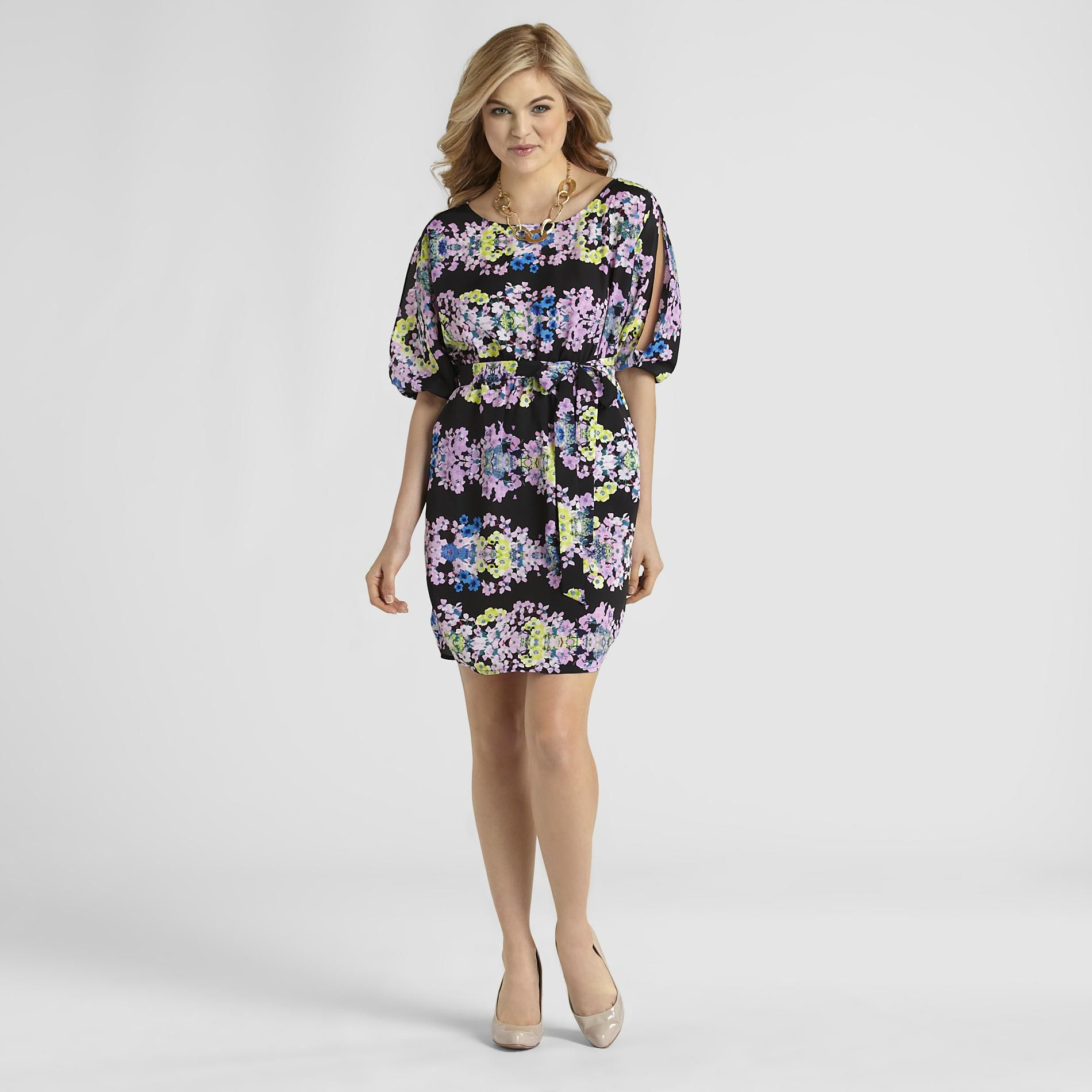Attention Women's Dolman Dress - Floral