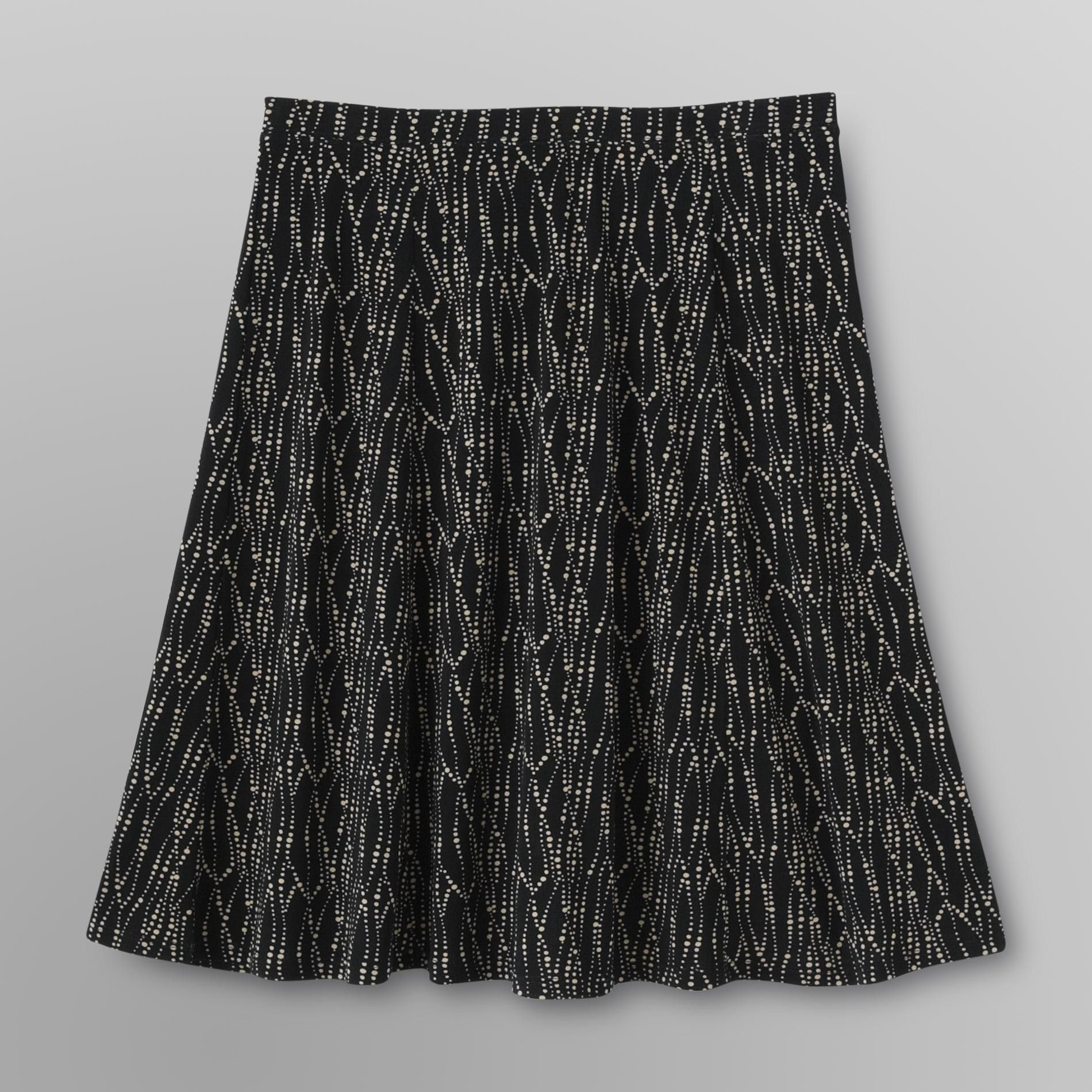 Women's Plus Gored Skirt - Dotted at Kmart.com