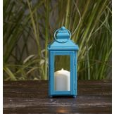 Garden Oasis 9in Solid Color Lantern - Blue at mygofer.com