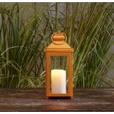 Garden Oasis 13in Solid Color Lantern - Orange at mygofer.com