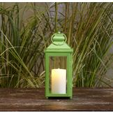 Garden Oasis 13in Solid Color Lantern - Green at mygofer.com