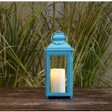 Garden Oasis 13in Solid Color Lantern - Blue at mygofer.com