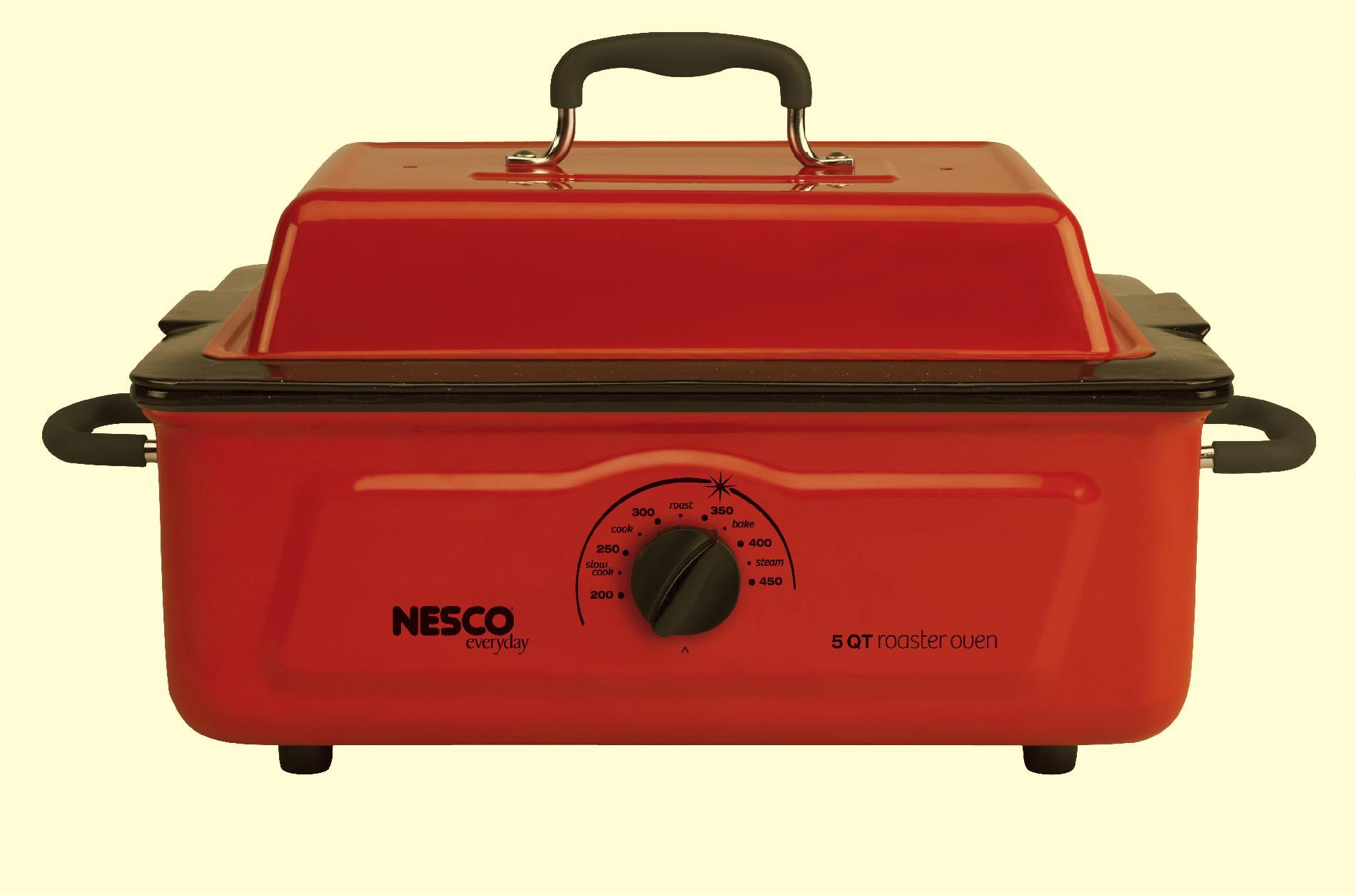Nesco  5 Qt. Red Roaster with Porcelain