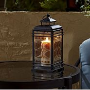 Jaclyn Smith Today Small Embossed Glass Lantern - Amber at Kmart.com