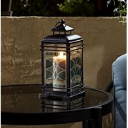 Jaclyn Smith Today Small Embossed Glass Lantern - Blue at Kmart.com