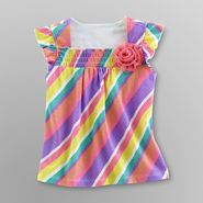 Toughskins Infant & Toddler Girl's Smocked T-Shirt - Striped at Sears.com