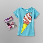 OC Girls Girl's Graphic T-Shirt & FM Radio - Ice Cream Cone at Kmart.com