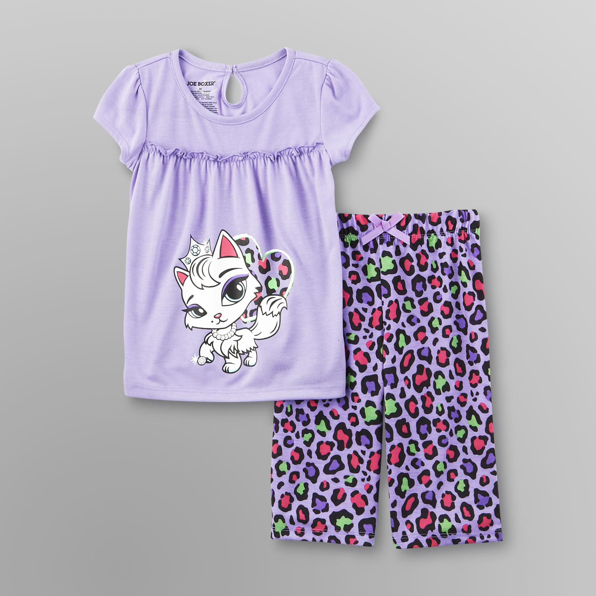 Toddler Girl's Pajamas - Cat