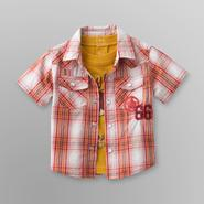 Route 66 Infant & Toddler Boy's Plaid Shirt & T-Shirt - Longhorn at Kmart.com