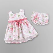 Small Wonders Infant Girl's Party Dress & Diaper Cover - Floral at Kmart.com