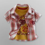 Route 66 Infant Boy's Plaid Shirt and Graphic Tee - Cowboy at Kmart.com
