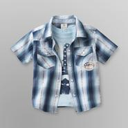 Route 66 Infant & Toddler Boy's Plaid Shirt & T-Shirt - Americana at Kmart.com