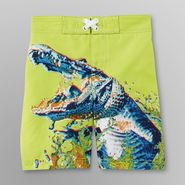 Joe Boxer Toddler Boy's Board Shorts - Tie-Dye Gator Print at Kmart.com