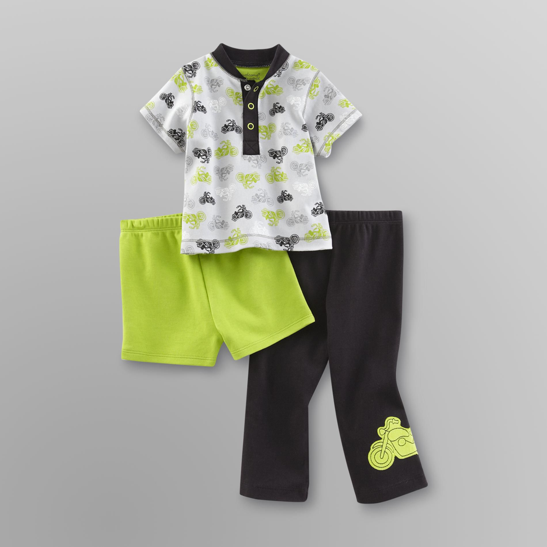 Infant Boy's Shirt, Pants & Shorts - Motorcycle