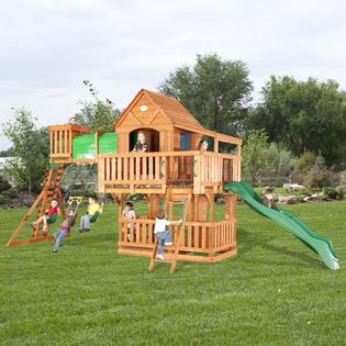 backyard discovery woodridge cedar swing set free delivery toys