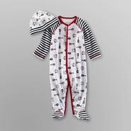 Welcome to the World Infant Boy's Footed Pajamas & Cap - Rock 'n' Roll at Kmart.com