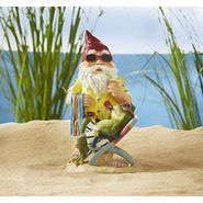 Gnome With Frog On Vacation Statue - Yellow Shirt at Sears.com