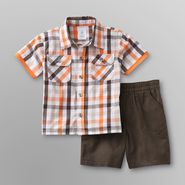 WonderKids Infant & Toddler Boy's Shirt & Shorts - Plaid at Kmart.com