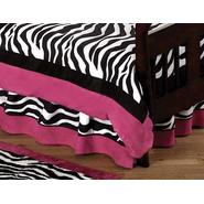 Sweet Jojo Designs Zebra Pink Collection Toddler Bed Skirt at Kmart.com