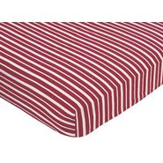 Sweet Jojo Designs Vintage Aviator Collection Fitted Crib Sheet - Red Stripe Print at Kmart.com