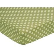 Sweet Jojo Designs Forest Friends Collection Fitted Crib Sheet - Tonal Green Dot at Kmart.com