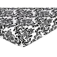 Sweet Jojo Designs Isabella Black and White Collection Fitted Crib Sheet - Damask Print at Kmart.com