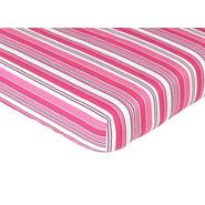 Sweet Jojo Designs Madison Collection Fitted Crib Sheet - Stripe Print at Kmart.com