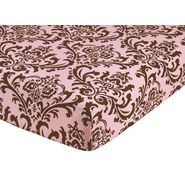 Sweet Jojo Designs Nicole Collection Fitted Crib Sheet - Damask Print at Kmart.com