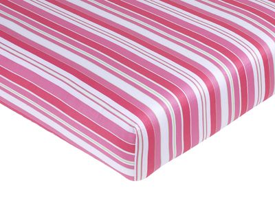Olivia Collection Fitted Crib Sheet - Stripe