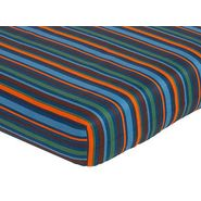 Sweet Jojo Designs Surf Blue Collection Fitted Crib Sheet - Multi Stripe at Kmart.com